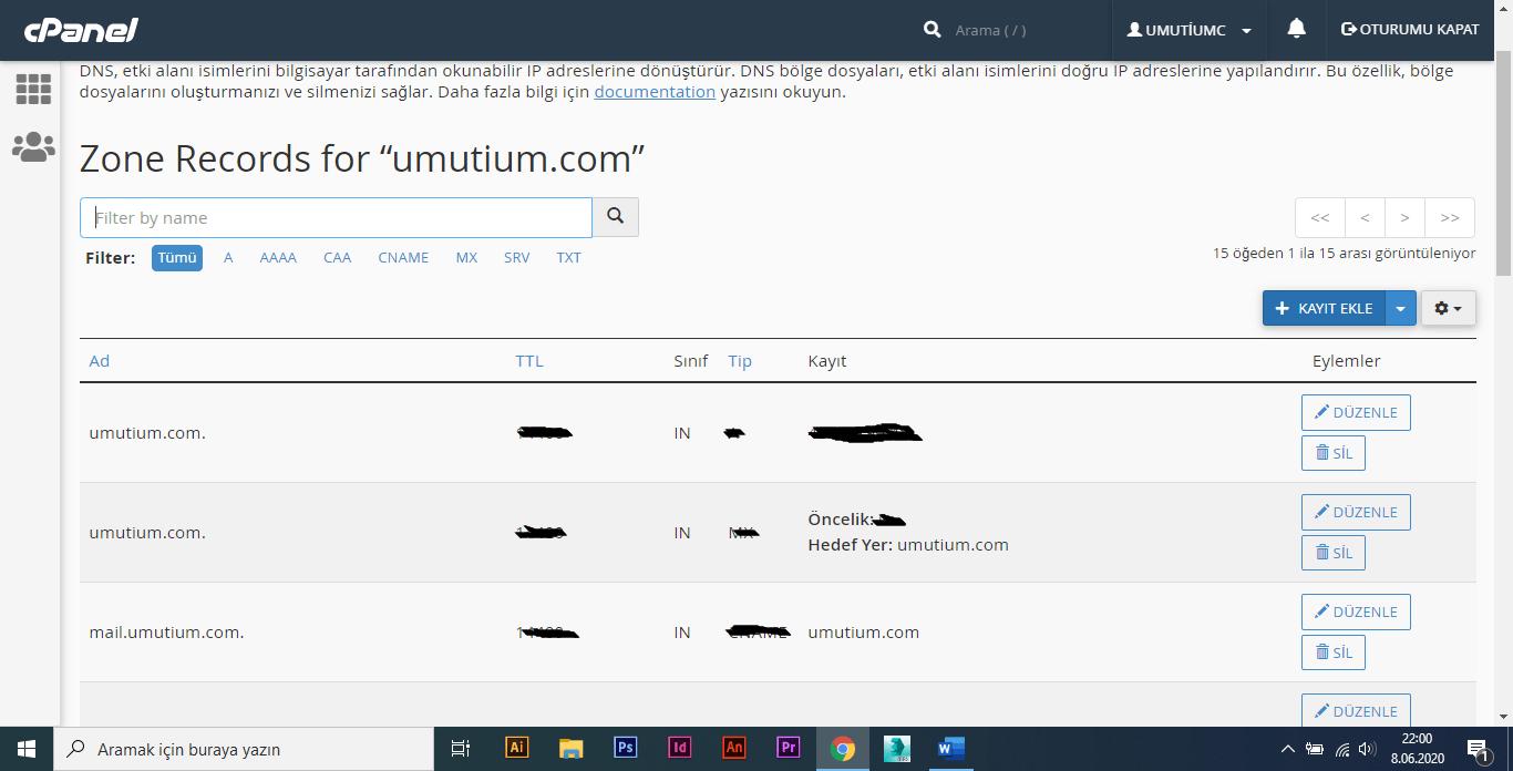 cpanel üzerinden search console doğrulaması