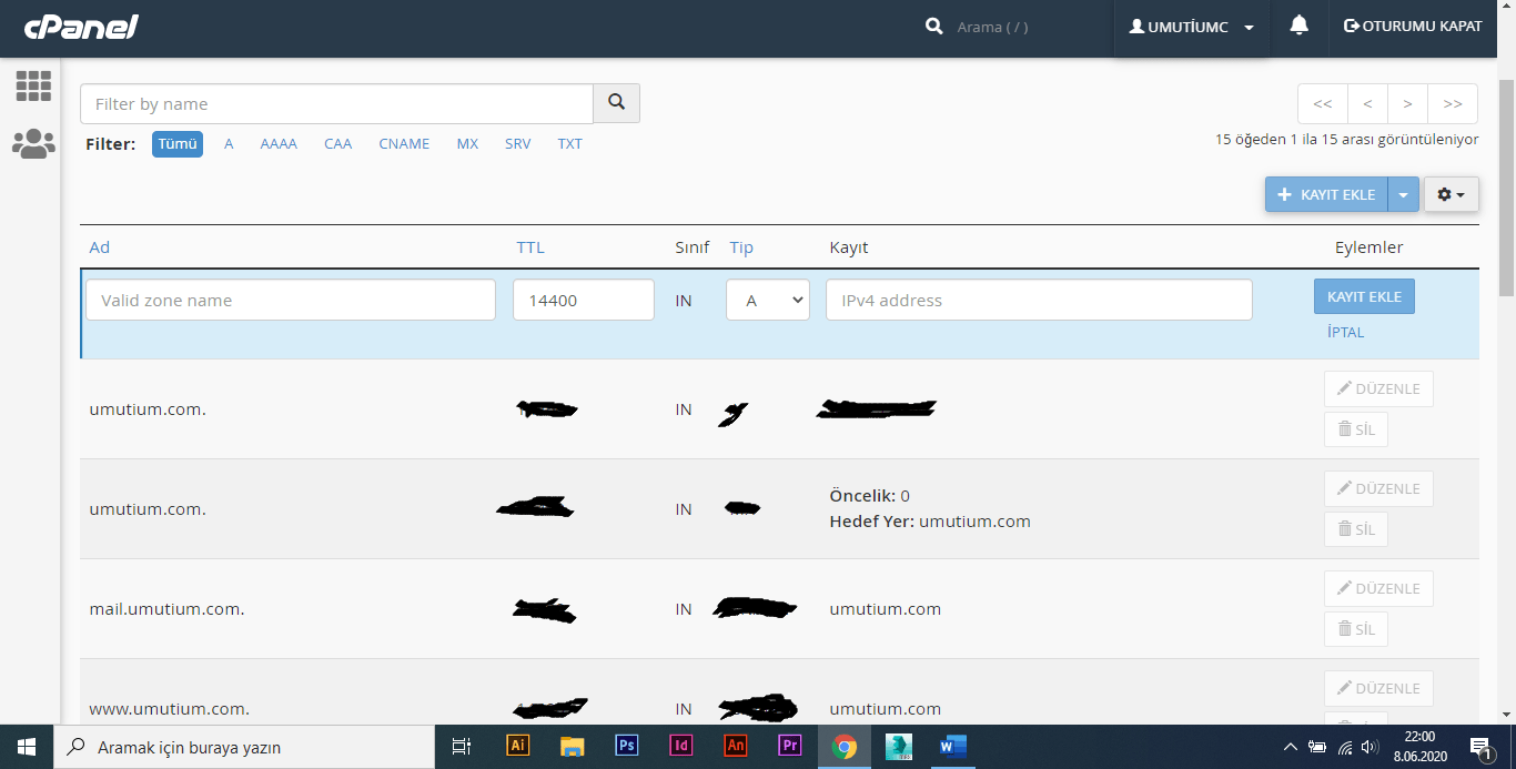 search console txt kaydı