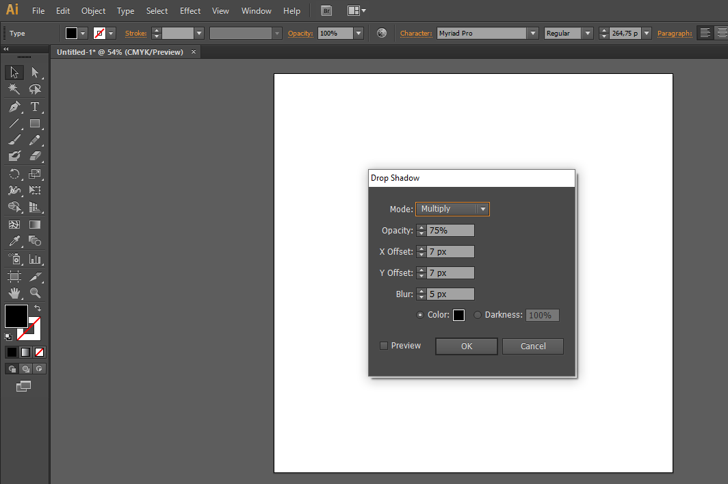 adobe illustrator drop shadow