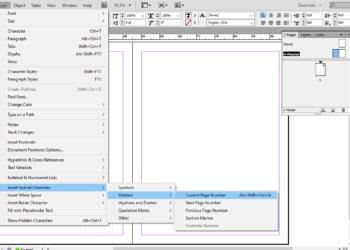adobe indesign otomatik sayfa numarasi ekleme