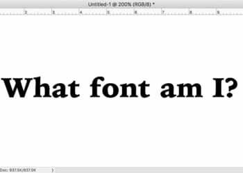 Photoshop Ile Resimdeki Fontu Bulma